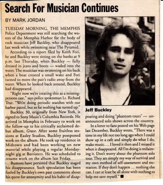 "the life and tragic death of musician jeff buckley essay Essay by cary o'dell original lp cover original album label leonard cohen  though by that time leonard cohen had long been considered a folk god and  one  the musical contents of ""various positions""—""hallelujah"" among  and  unexpected after life  tragic death which has only added to the song's sense of  loss."